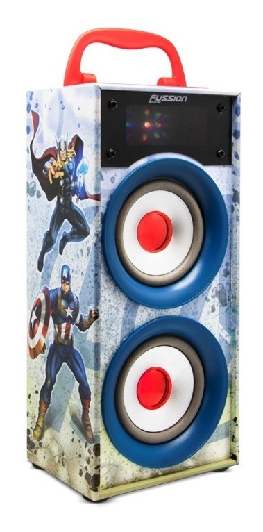 Bocina Recargable Bluetooth Usb Sd Mp3 Radio Fm Luz Avengers_0
