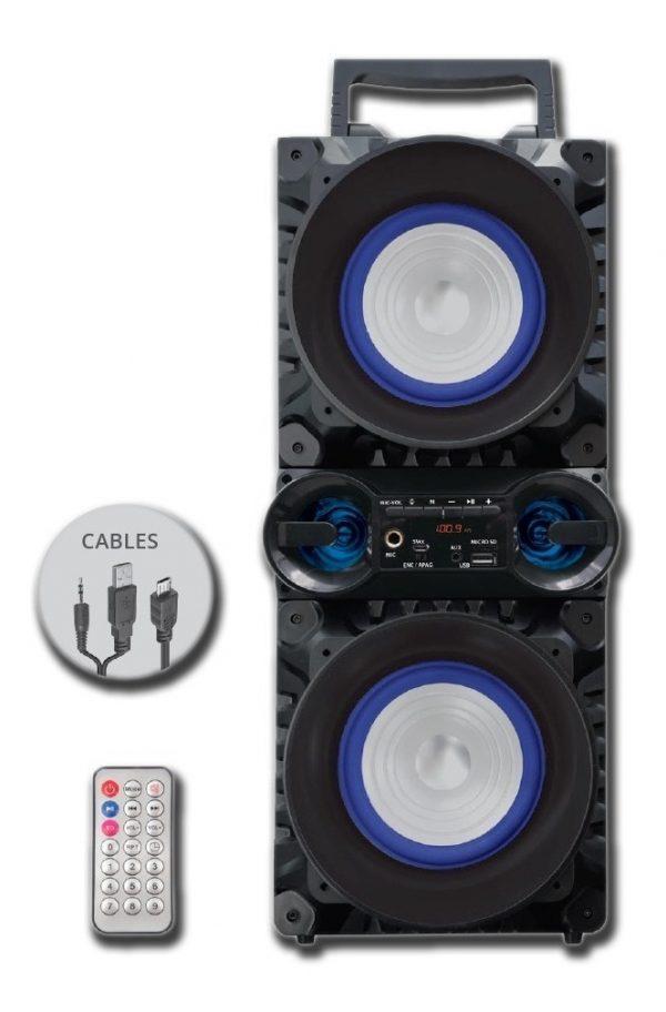 Bocina Recargable 2x5 Bluetooth Fm Micrófono Usb Mp3 9456_0