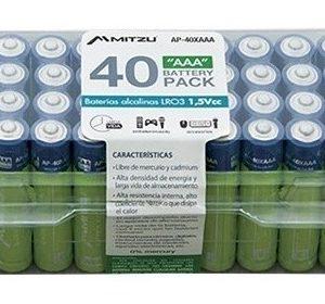 Kit De 40 Baterías Alcalina Aaa Pilas 1.5v Mitzu 40_0