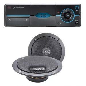 Autoestereo Mp3 Usb Aux Bluetooth + Par De Bocinas 9976_0
