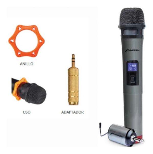 Micrófono Inalámbrico Profesional Con Pantalla Lcd 60m 3010_1