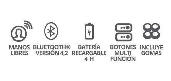 Audifonos Bluetooth 4.0 Recargable Manos Libres Negro 9210_1