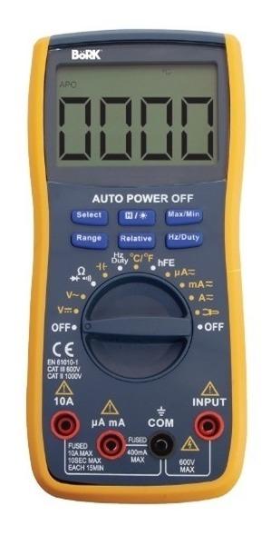 Multímetro Digital Mide Frecuencia Temperatura 9604_0