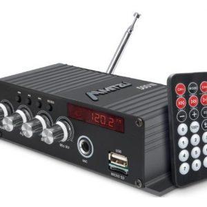 Amplificador Bluetooth Usb Fm Control Auto Moto Mitzu 78bt_0