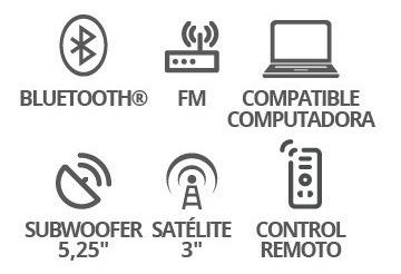 Bocinas Bluetooth Multimedia 2.1 Aux Usb Fm Kaiser 9331_1